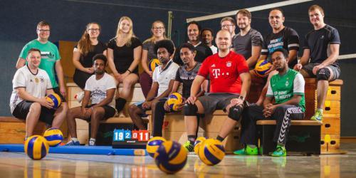Volleyball Mannschaftsfoto